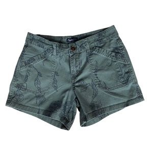 Supplies floral army green shorts